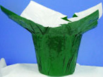 Mylar Cover for 4 inch Pots - Green